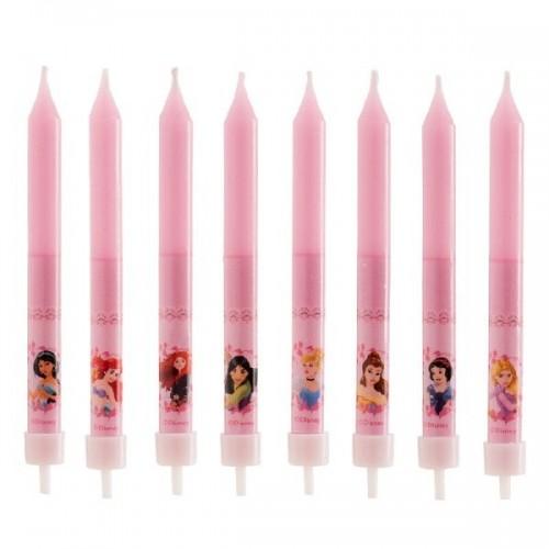 Narozeninové svíčky - Princess - 8ks