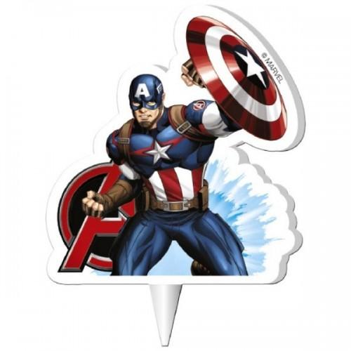 Dekora dortová svíčka - Capitan America - Avengers  - 1ks