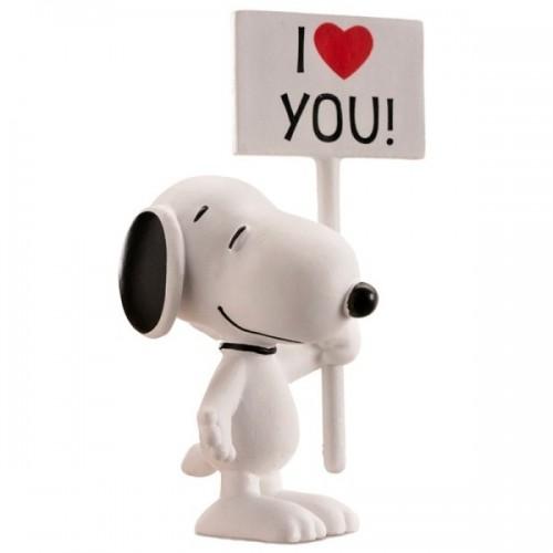 """Dekorační figurka - Snoopy  """"I LOVE YOU"""""""