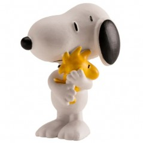 Dekorative Figur -  Snoopy mit einem Vogel