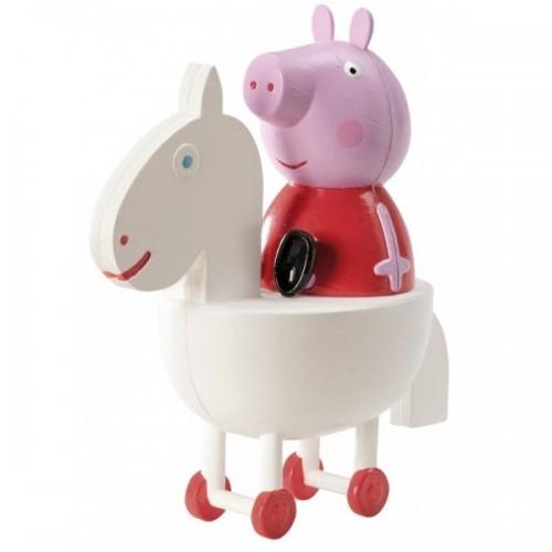 Set dekorační figurka - Prasátko Peppa + kolotoč
