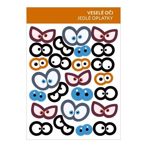Jedlý papír karta - veselé oči 25ks