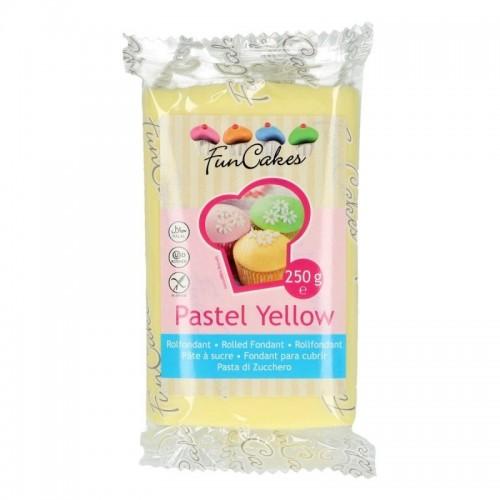 FunCakes potahový fondán Pastel Yellow - žlutá 250g