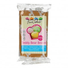 FunCakes potahový fondán Teddy Bear Brown 250g