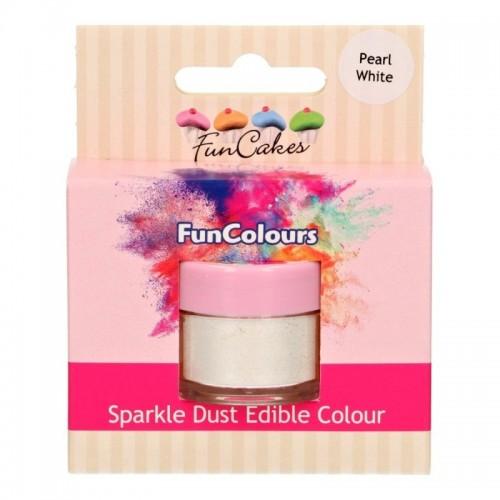FunColours prachová perleťová farba bielá - Pear White - 3,5g