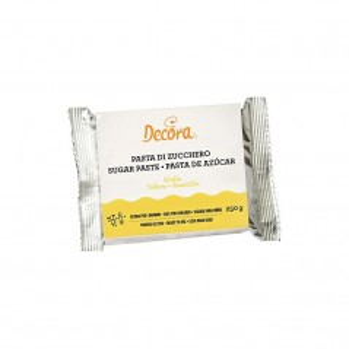 Decora - potahovací hmota - žlutá - yellow -  250g