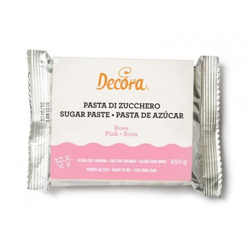 Decora - potahovací hmota - růžová - pink -  250g