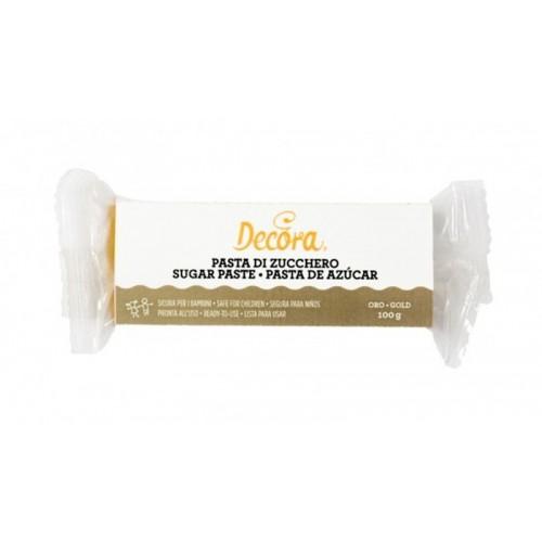 Decora - Zuckerpaste - gold - 100g