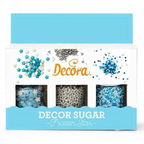 Decora - Cukrové perličky - modré - 3ks  - 85g