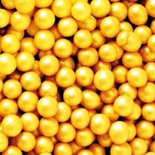 Decora - Cukrové perličky velké 8mm - zlaté - 50g