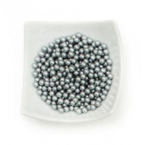 Decora - Cukrové perličky veľké 8mm - strieborné - 50g