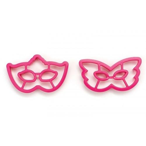 Decora ružová vykrajovačky - masky / škrabošky - 2ks
