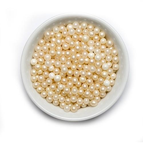 Decora - Cukrové perličky veľké 8mm - perleťový - 700g