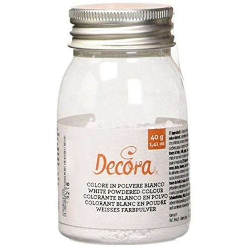 Decora jedlá prachová barva - white - bílá - 40g