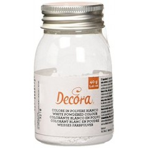 Decora jedlá prachová farba - white - biela - 40g