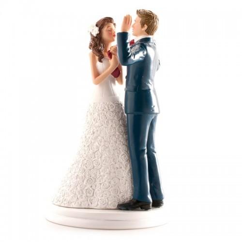 Svatební figurky - ruce vzhůru