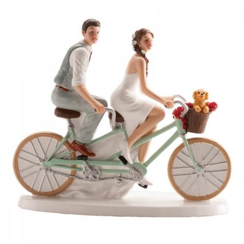 Svatební figurky - na kole