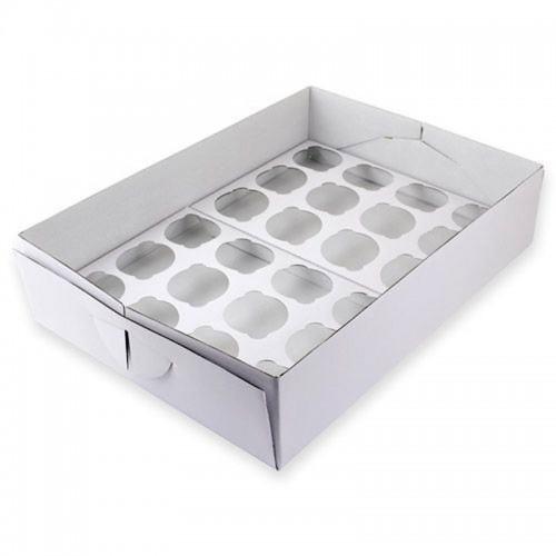 PME Krabička na muffin /  CupCakes - bílá - 24