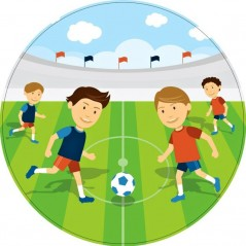 Jedlý papír kulatý - děti hrající fotbal - 1 + 10ks