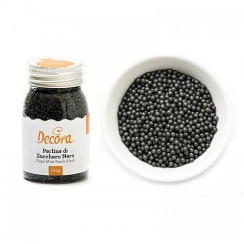 Decora Cukrové perličky - máček - černý - 100g