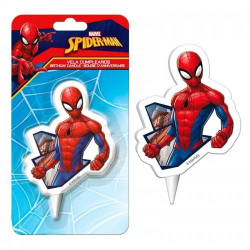Dekora dortová svíčka - Spiderman 2D - 1ks