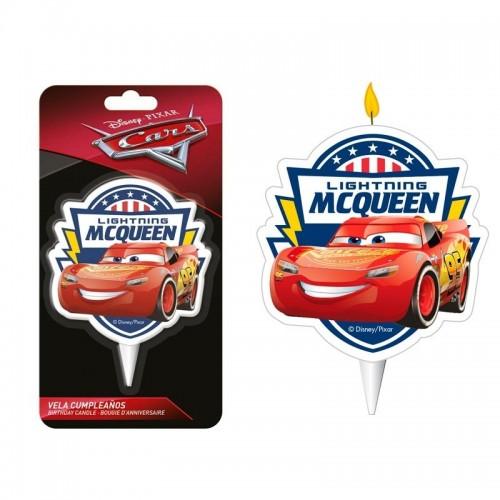 Dekora dortová svíčka - Blesk McQueen 2D - 1ks