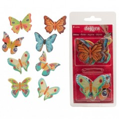 Dekora jedlý papír - motýlci  8ks