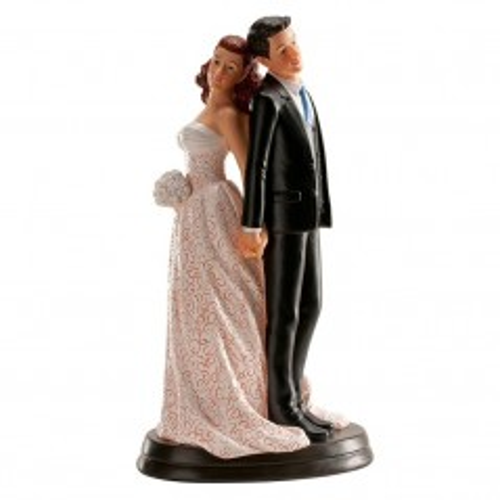 Svatební figurky - zády k sobě