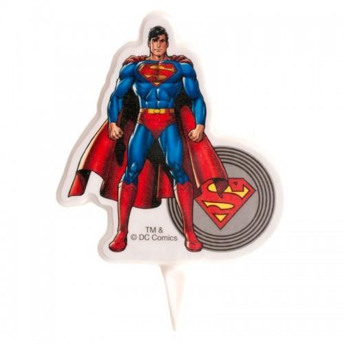 Dekora dortová svíčka - Superman 2D - 1ks