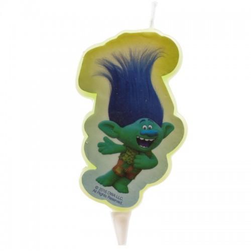 Dekora  Tortová sviečka -  Trolls 2D - Branch