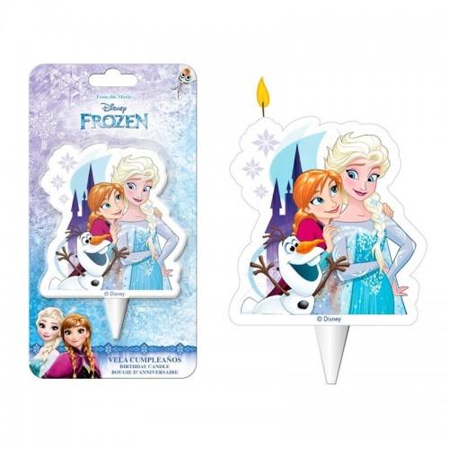 Dekora dortová svíčka - Frozen - Elsa,Anna,Olaf - 1ks