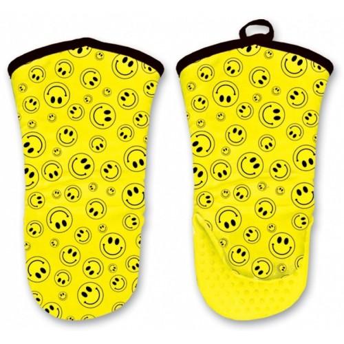 Kuchyňská rukavice se silikonovou dlaní - Smile