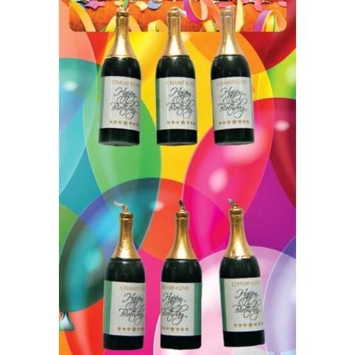 Dortové svíčky - Champagne 6ks