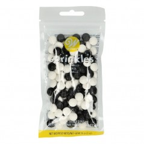 Wilton cukrová dekorace Black / White Football - fotbal - 56g