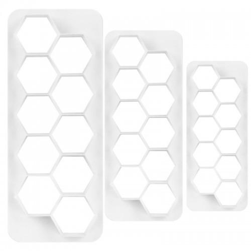 Multicutter set - multi vykrajovač -  šestiúhelník 3ks