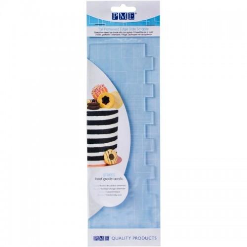 PME - tall patterned edge side scraper - stripes