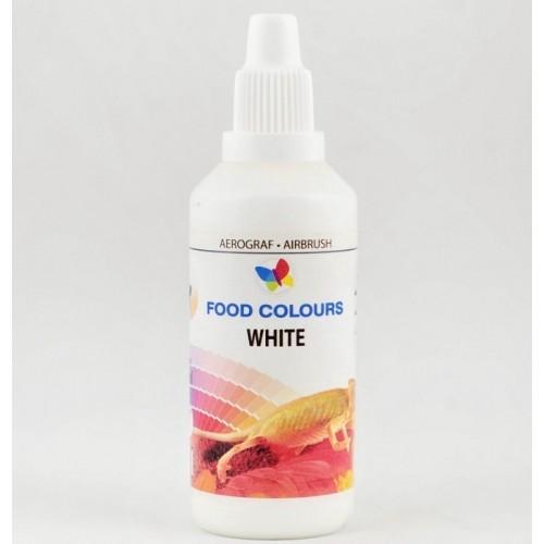 Airbrush barva tekutá 60ml Food Colours White - Bílá