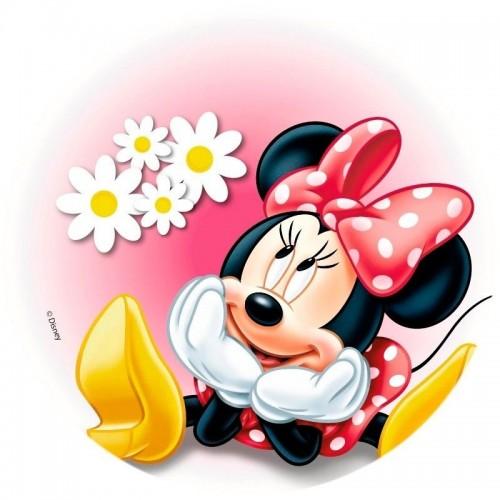 Jedlý papír kulatý - Minnie Mouse sedící