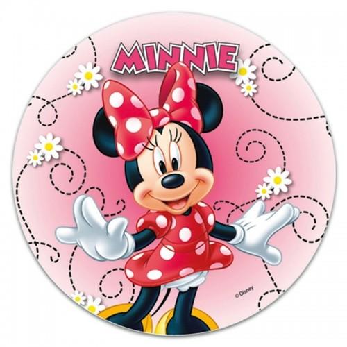 Jedlý papír kulatý - Minnie Mouse veselá