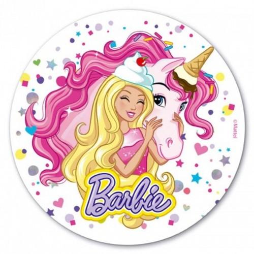 Jedlý papír kulatý - Barbie