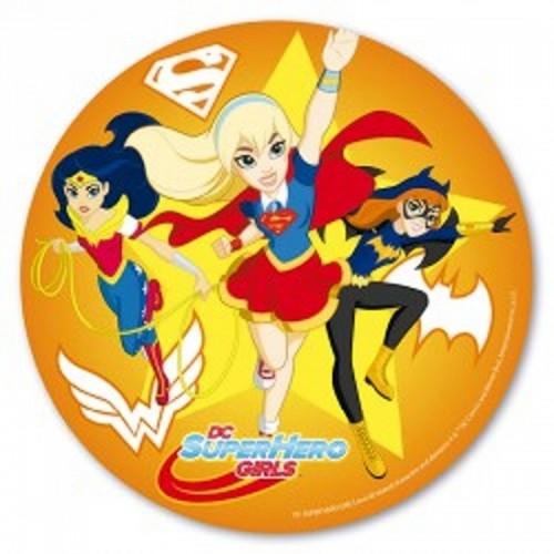 Jedlý papír kulatý - SuperHero Girls