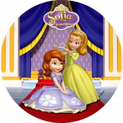 Essbare Papier Round - Prinzessin Sofia die Erste - Krone