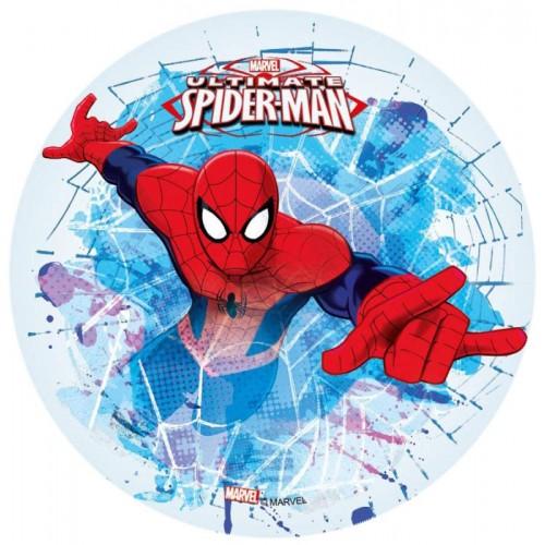 Jedlý papír kulatý - Spiderman - pavučina