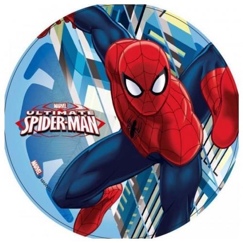 Jedlý papír kulatý - Spiderman - mrakodrap