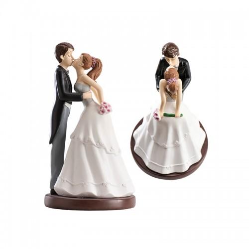 Svatební figurky - polibek nakloněná