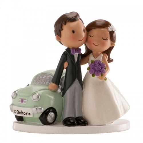 Svatební figurky - Just Married Car