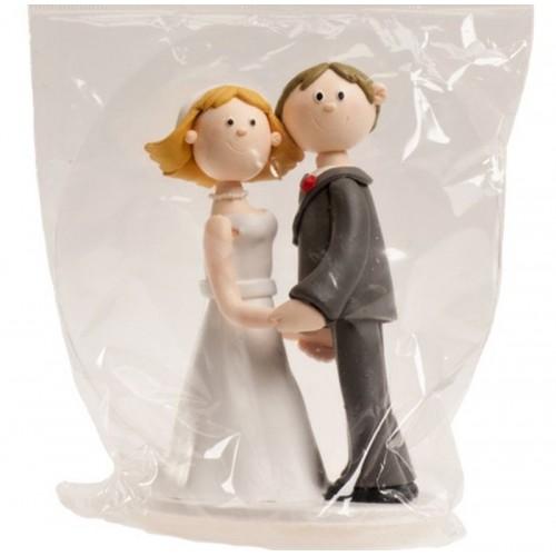 Hochzeitsfiguren - Hände halten - Ton