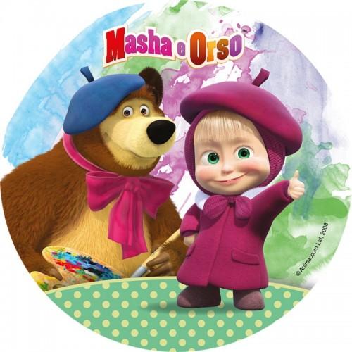 Jedlý papír kulatý - Máša a medvěd 2
