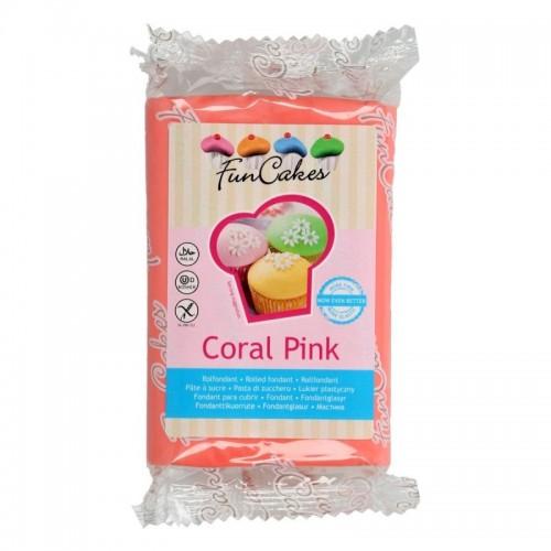 FunCakes Fondant  Coral Pink   -250g-