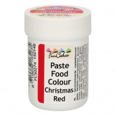 FunColours paste food colour - christams red - cup 30g